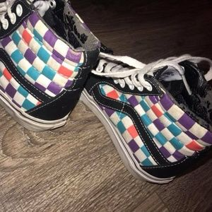 Vans Classic Colorful Checkered Board Sneakers